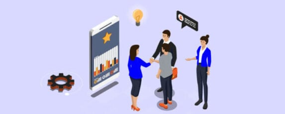 A team sharing business ideas